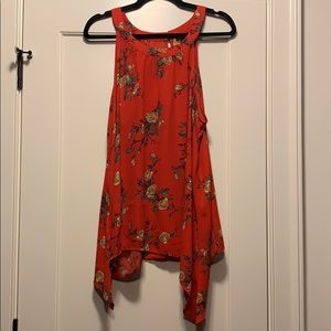 Torrid swing tank - red floral - size 0